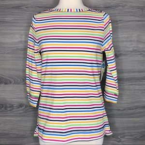 Westbound Stripped Long Sleeve Top Size Small